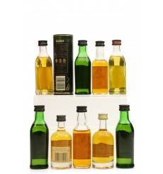 Assorted Whisky/Rum Miniatures X9